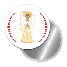 Load image into Gallery viewer, Angel (African-American) Button/Magnet/Mirror