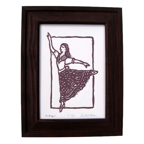 """Arabesque"" 5x7 Art Print - Ballet Gift Shop"