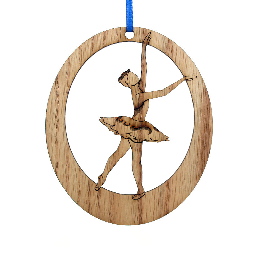Attendant Laser-Etched Ornament - Ballet Gift Shop