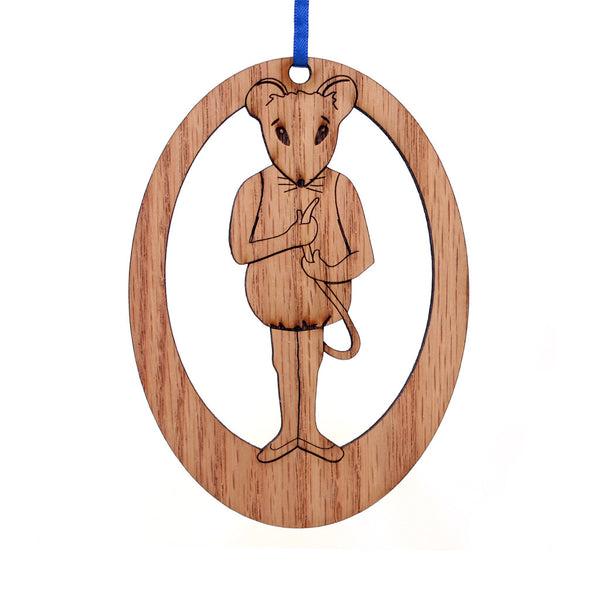 Baby Mouse Laser-Etched Ornament