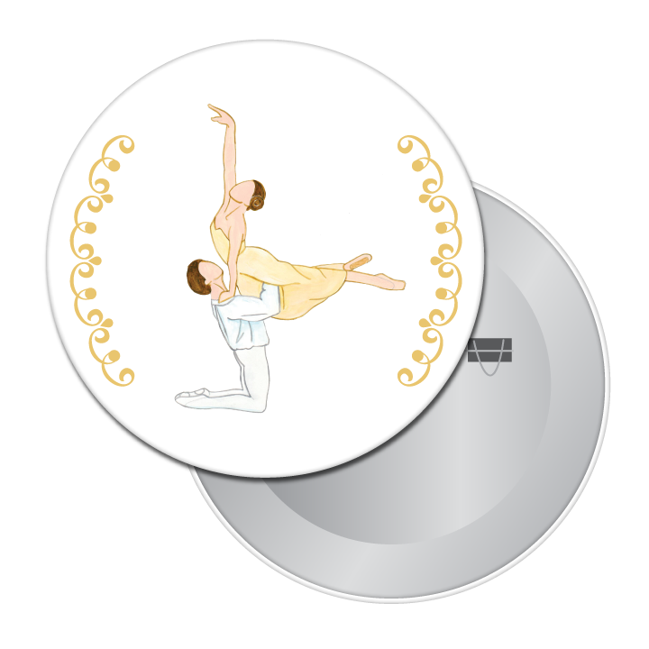 Balcony Pas de Deux Button/Magnet/Mirror