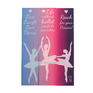 Personalized Ballerina Bookmarks - Set of 3