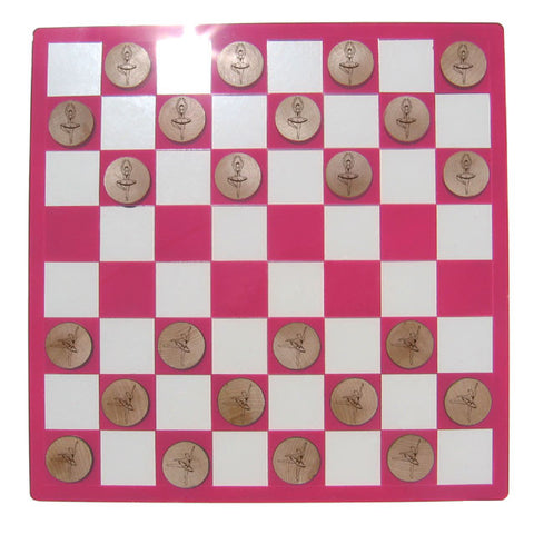 Fancy Ballerina Checkers Set