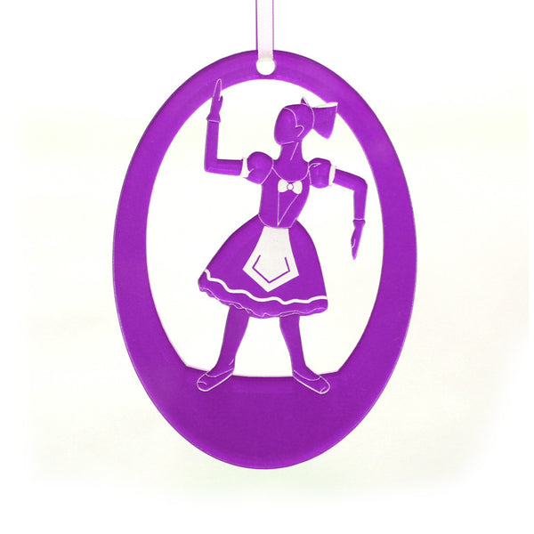 Ballerina Doll Laser-Etched Ornament