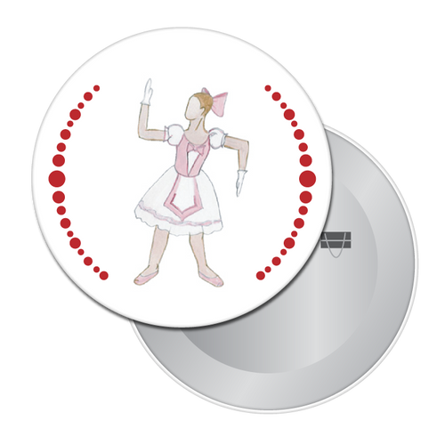 Ballerina Doll Button/Magnet/Mirror