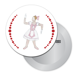 Ballerina Doll Button / Magnet
