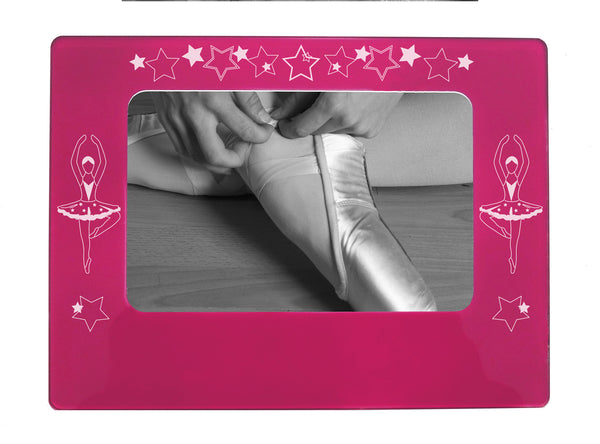 "Ballerina 4"" x 6"" Magnetic Photo Frame (Horizontal/Landscape) - Ballet Gift Shop"