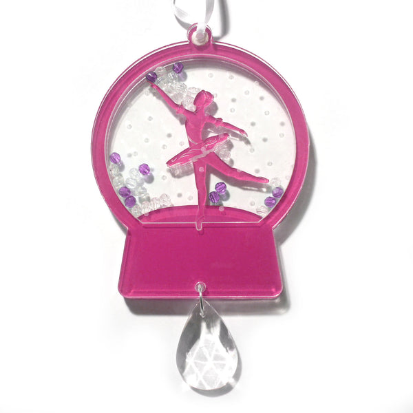 Ballerina Dancer Snow Globe Ornament