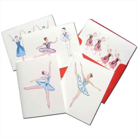 Nutcracker Ballerinas Assorted Note Card Set - Ballet Gift Shop
