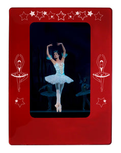 "Ballerina 4"" x 6"" Magnetic Photo Frame (Vertical/Portrait) - Ballet Gift Shop"