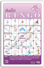 Load image into Gallery viewer, Ballet Bingo - Ballet Gift Shop