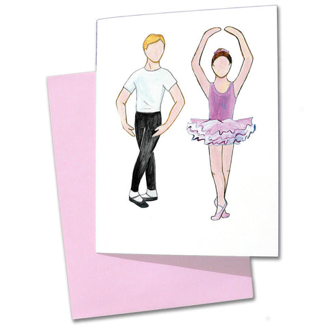 Ballet Boy and Girl Note Cards - Ballet Gift Shop