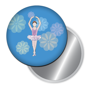 Ballet Girl Button/Magnet/Mirror