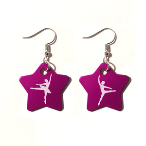 Pas de Deux Metal Earrings