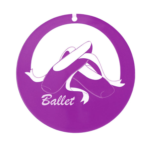Ballet Shoes Laser-Etched Ornament