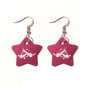 Ballet Shoes Metal Earrings