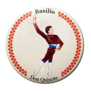 Basilio Button/Magnet/Mirror - Ballet Gift Shop