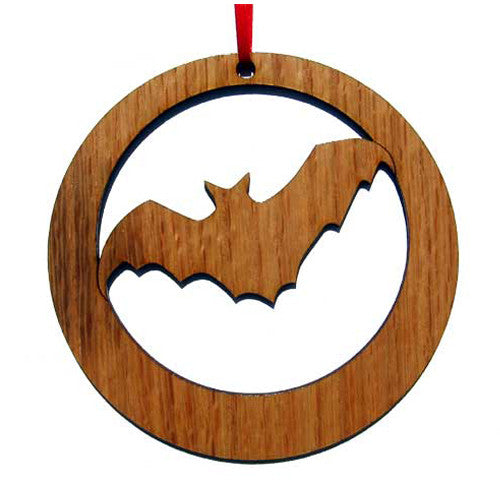 Dracula Bat Laser-Etched Ornament
