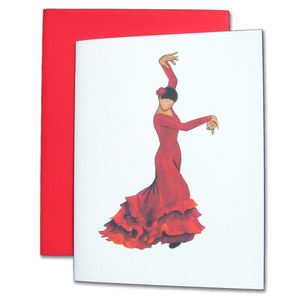 Bata de Cola Flamenco Note Cards - Ballet Gift Shop