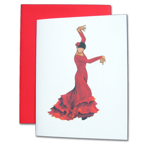 Bata de Cola Flamenco Note Cards