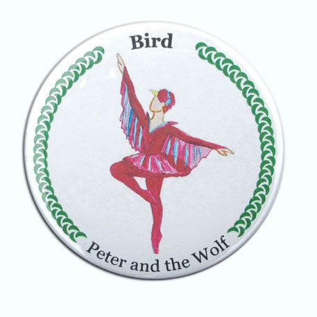 Bird (from Peter & The Wolf) Button/Magnet/Mirror - Ballet Gift Shop