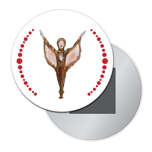 Bird Dancer Button / Magnet