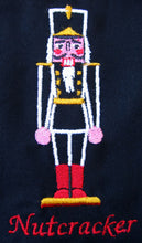 "Load image into Gallery viewer, Embroidered Nutcracker 7""x9"" Tote Bag - Ballet Gift Shop"