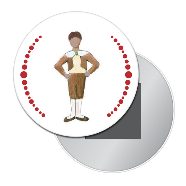 Boy at the Party (African-American) Button / Magnet