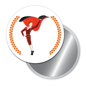 Bullfighter Button/Magnet/Mirror