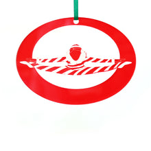 Load image into Gallery viewer, Peppermint Candy Cane Laser-Etched Ornament - Ballet Gift Shop