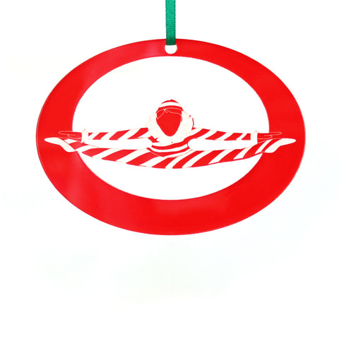 Peppermint Candy Cane Laser-Etched Ornament