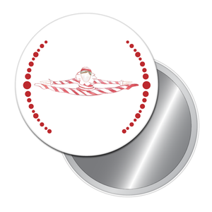 Peppermint Candy Cane Button/Magnet/Mirror
