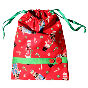 Candy Nutcracker Drawstring Tote Bags (Choose from 2 Colors) - Ballet Gift Shop