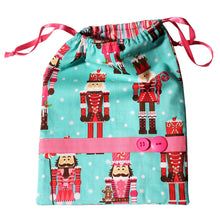 Load image into Gallery viewer, Candy Nutcracker Drawstring Tote Bags (Choose from 2 Colors) - Ballet Gift Shop