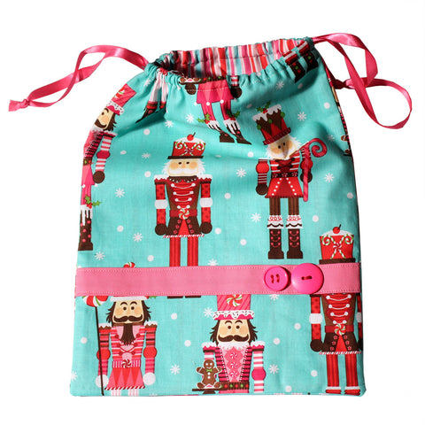 Candy Nutcracker Drawstring Tote Bags (Choose from 2 Colors)