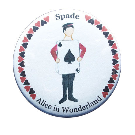 Spade Card Button/Magnet/Mirror - Ballet Gift Shop