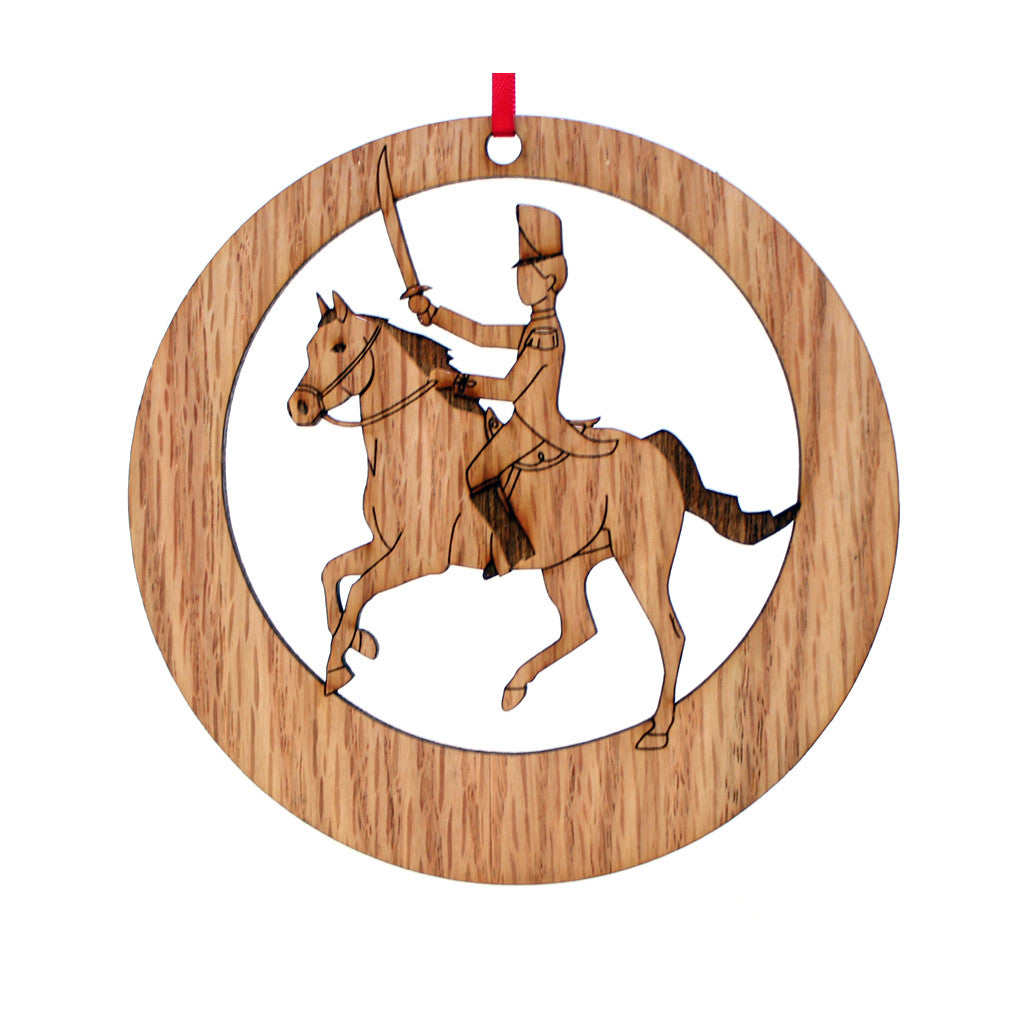 Cavalry Soldier Laser-Etched Ornament - Ballet Gift Shop