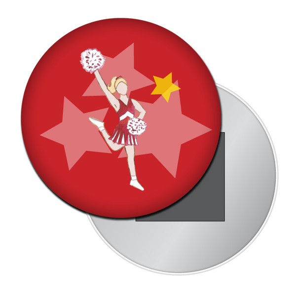 Lead Cheerleader Button / Magnet