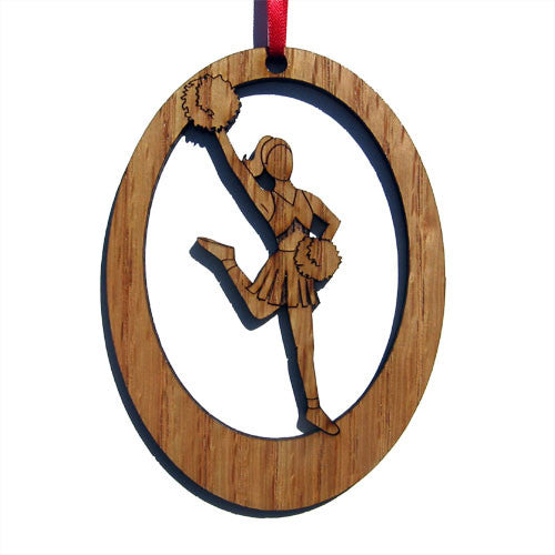Lead Cheerleader Laser-Etched Ornament - Ballet Gift Shop