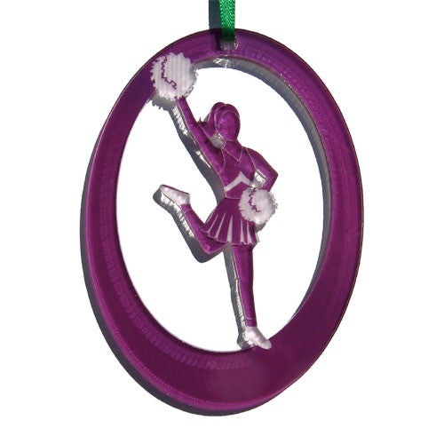 Lead Cheerleader Laser-Etched Ornament