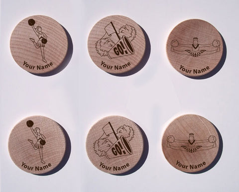 Cheerleading Maple Magnet Set of 6