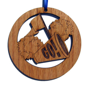 Cheer Megaphone Laser-Etched Ornament - Ballet Gift Shop