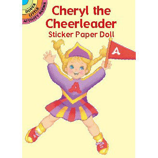 Cheryl the Cheerleader Sticker Paper Doll - Ballet Gift Shop