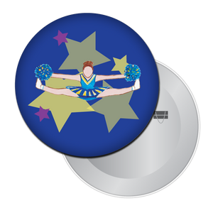 Toe Touch Cheerleader Button/Magnet/Mirror