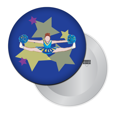Toe Touch Cheerleader Button / Magnet