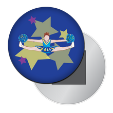 Load image into Gallery viewer, Toe Touch Cheerleader Button / Magnet