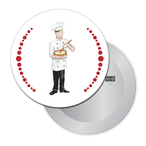 Chef/Baker Button/Magnet/Mirror