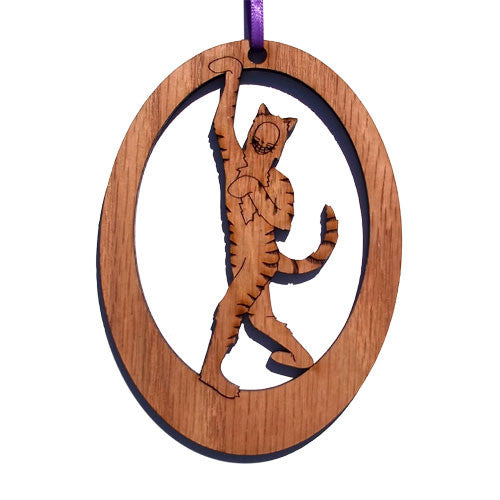 Cheshire Cat Laser-Etched Ornament