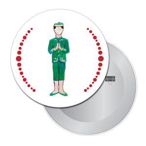 Chinese Boy Button/Magnet/Mirror