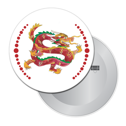 Chinese Dragon Button/Magnet/Mirror